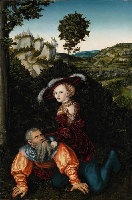 Кранах «Филлис и Аристотель», 1530 г.