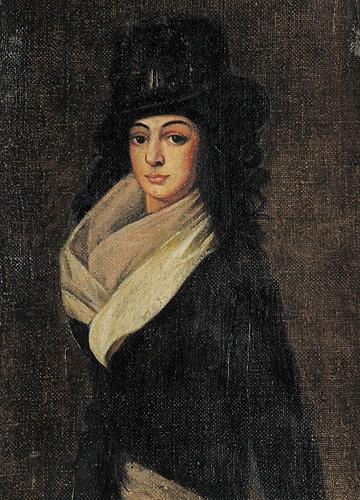 Нина Чавчавадзе. Неизвестный художник