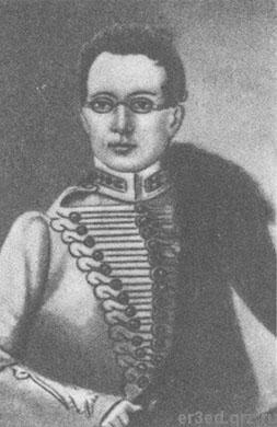 Александр Грибоедов в годы военной службы. Портрет неизвестного
