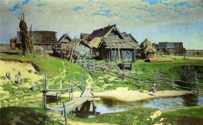 Vasily Polenov - Русская деревня