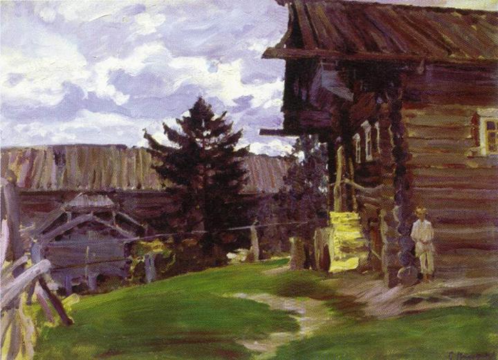 """Виноградов Сергей """"Северная деревня"""", 1902"""
